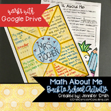 Math About Me Project Back to School Printable Digital Editable