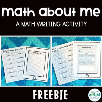 Math About Me - Writing Activity