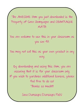 Math About Me - a math all about me graphic organizer