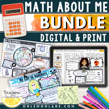 Math About Me for Upper Grades BUNDLE Math All About Me | 2 Posters included
