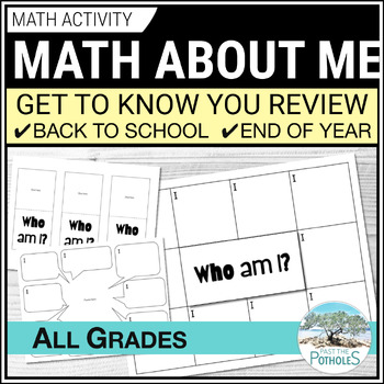 Math About Me - review, assessment, reflection