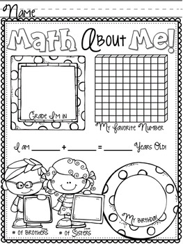 Math About Us Classroom Book ~ Freebie!