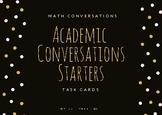 Math Academic Conversations Cards