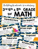 Math Academic Vocabulary 3-5th Grade