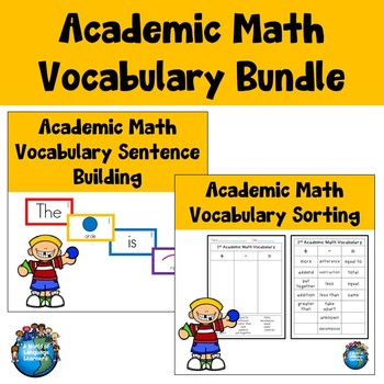 Math Academic Vocabulary Bundle