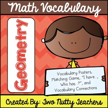 Math Academic Vocabulary: Common Core Geometry Word Wall a