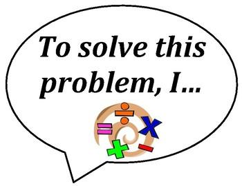 Math Accountable Talk Bubbles
