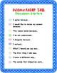 Math Accountable Talk Poster Set - Red & Blue
