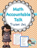Math Accountable Talk Poster Set - Red & Blue