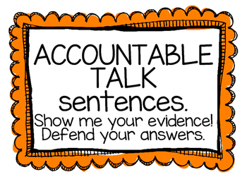 Math Accountable Talk Posters