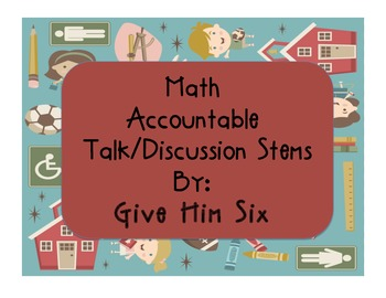 Math Accountable Talk/Discussions Stems