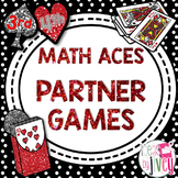 Math Partner Card Games - 3rd and 4th Grade