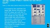 Math Across the Curriculum Slides for ELA