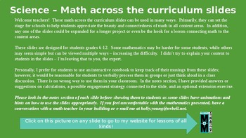Math Across the Curriculum Slides for Science