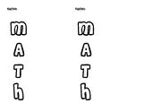 Math Acrostic