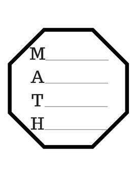 Math Acrostic Poem