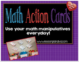 Math Action Cards for Math Manipulatives