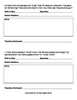 Math Action Posters and Worksheets
