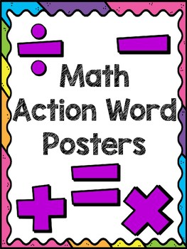 Math Action Word Posters