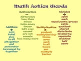 Math Action Words