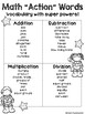 Math Action Words Poster **Freebie**