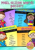 Math Action Words Posters