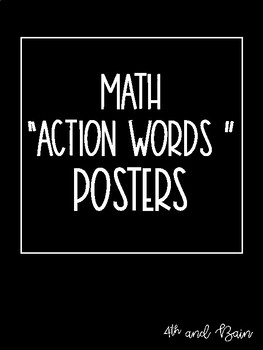 """Math """"Action Words"""" Posters"""