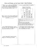 Math Activities ~ 2nd Grade ~ Houghton Mifflin Theme 2 ~ Nature Walk