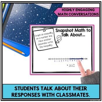6th Grade Math Activities BUNDLE: Snapshot Math to Talk About