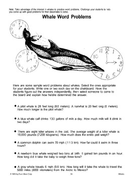 Math Activities About Whales