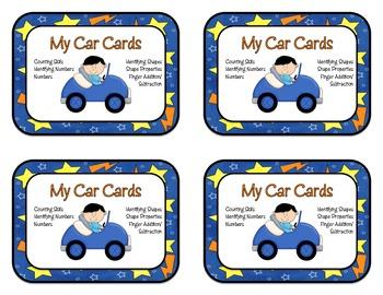 Math Activities Car Cards