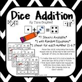 Math Activities - Dice Addition