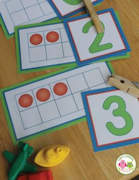 Ten Frame Counting and Number Activities for Preschool, Pre-K and Kindergarten