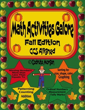 Math Activities Galore - Fall Edition. CCS Aligned