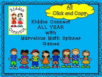 Math Activities - Kiddos Connect ALL YEAR with Marvelous Math Spinner Games