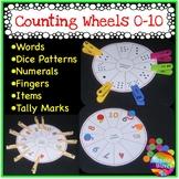 Kinder Math Center Activity NUMBER WHEEL Tasks Counting Number 0-10 btsdownunder