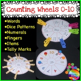 Kinder Math Center Activity NUMBER WHEEL Tasks Counting Nu