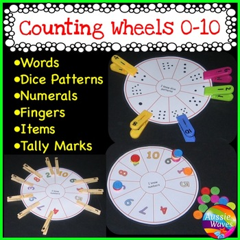 NEW Math Center Activity Idea NUMBER WHEELS Tasks Counting