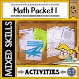 Math Activities Packet 1