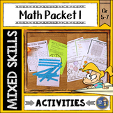 Math Activities Packet 1 Distance Learning Math