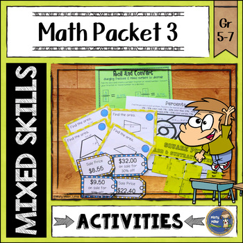 Math Activities Packet 3
