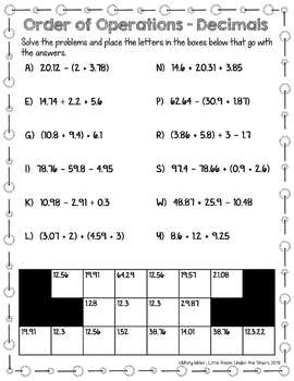 Math Activities Packet 6