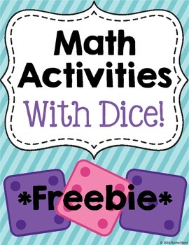 Math Activities With Dice - Free Sample