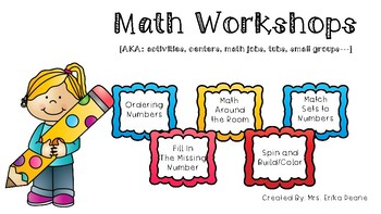 Math Centers for Back to School Cardinality Engagement