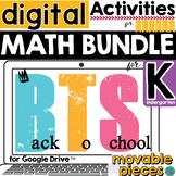 Back to School DISTANCE LEARNING Math Activities for Kindergarten