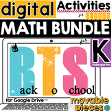Back to School DISTANCE LEARNING Math Activities for Kindergarten