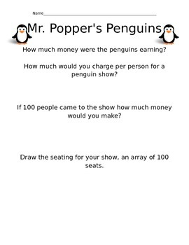 Math Activities for Mr. Popper's Penguins