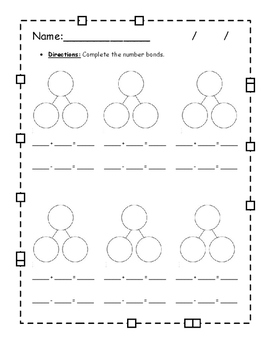 Math Activities using number bonds - many to choose from!