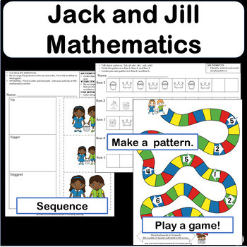 Math Activities with Nursery Rhymes - Jack and Jill Math