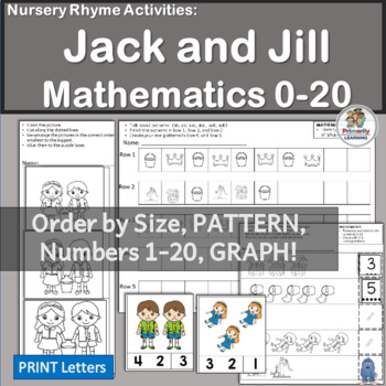 Nursery Rhymes Number Activities: Jack and Jill Math by Primarily ...